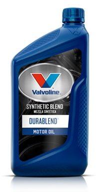 Quart of Valvoline durablend synthetic blend oil