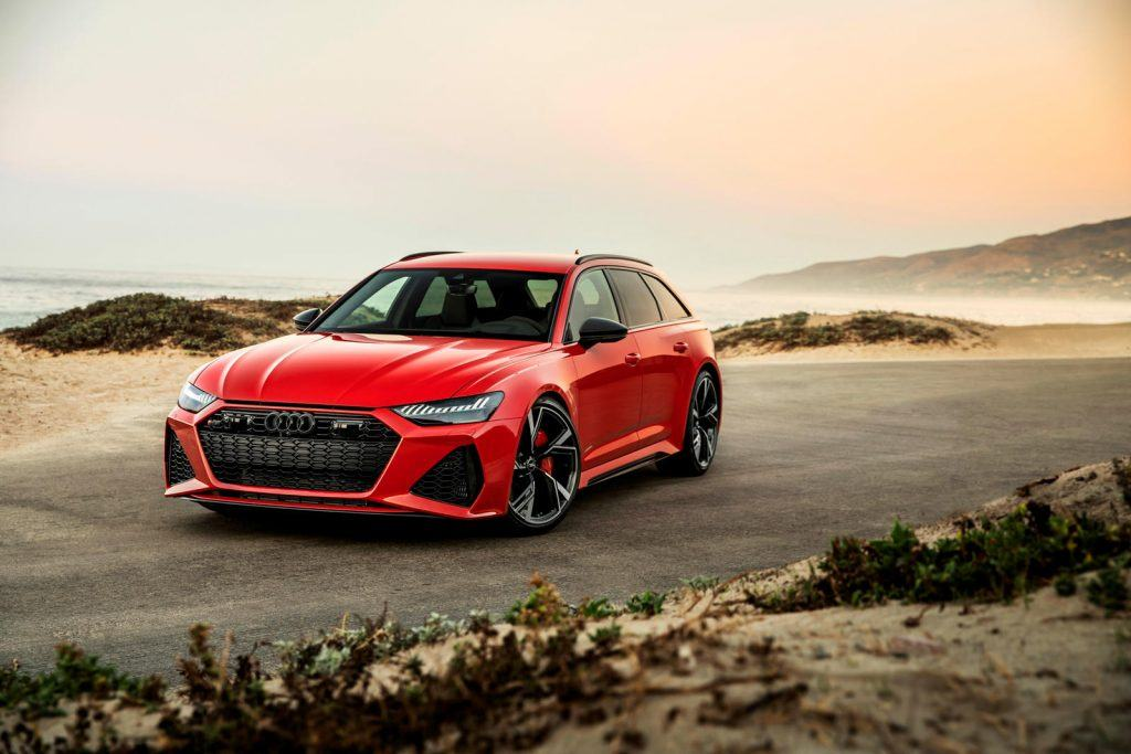 Fastest Audis: Photo of a red 2020 Audi RS6
