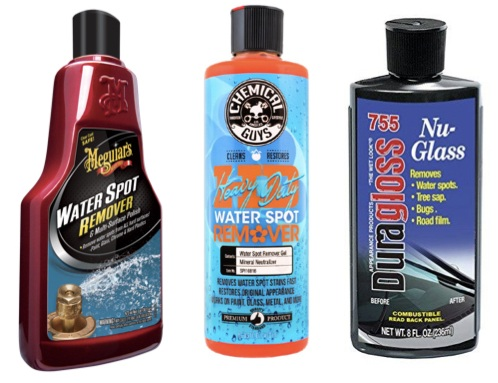 Photo of different water spot remover products