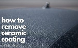 image of a car roof with water droplets