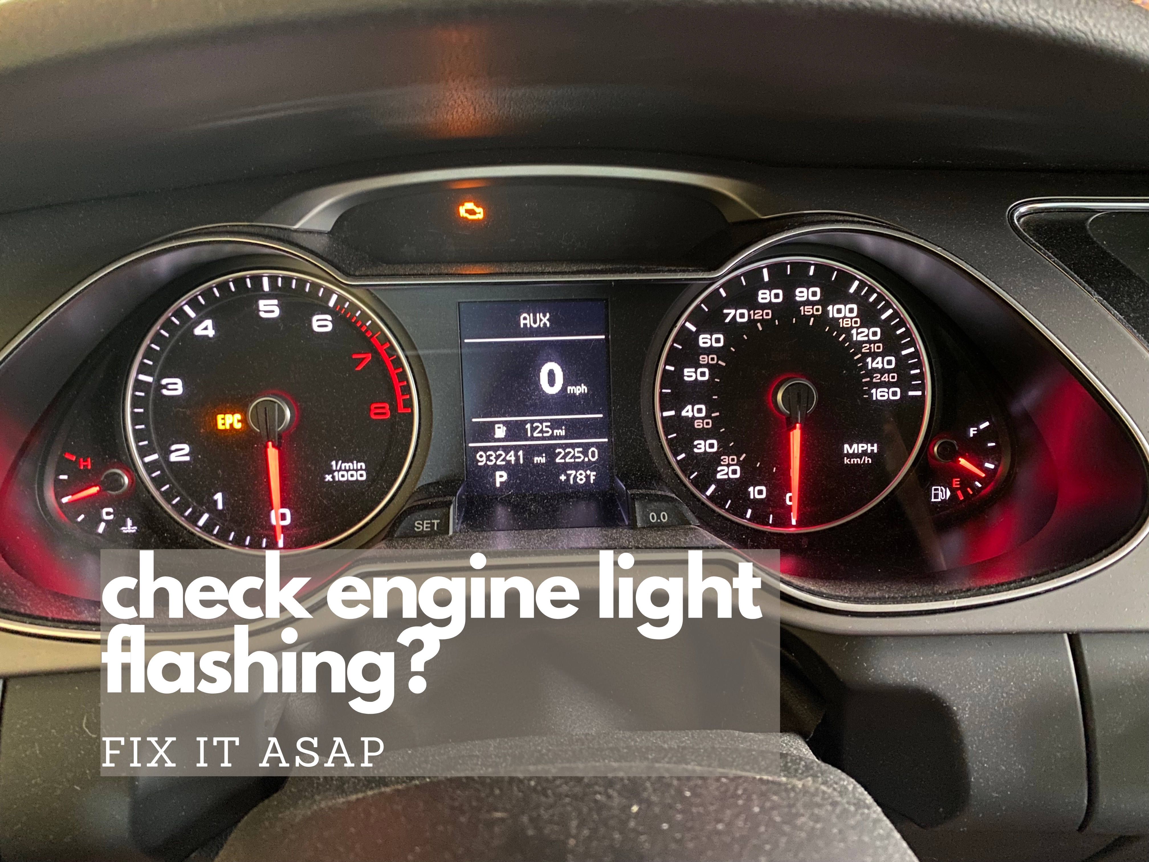 check engine light flashing on an Audi allroad
