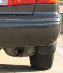 Photo of a Camry exhaust tip